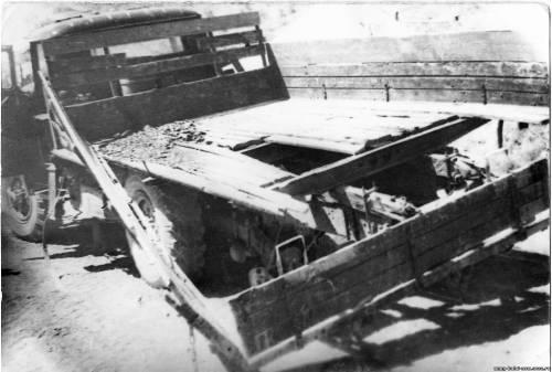 Подрыв ЗиЛ-131 с углем у Джафари